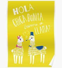 Hola Chica Bonita Poster Poster