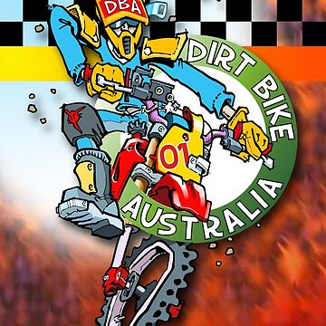 Dirt Bike Australia Hot Stuff T-Shirt by Wizard