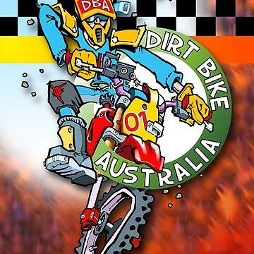 Dirt Bike Australia Hot Stuff T-Shirt by Wizard