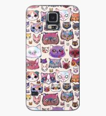 Katzengesichter Hülle & Klebefolie für Samsung Galaxy