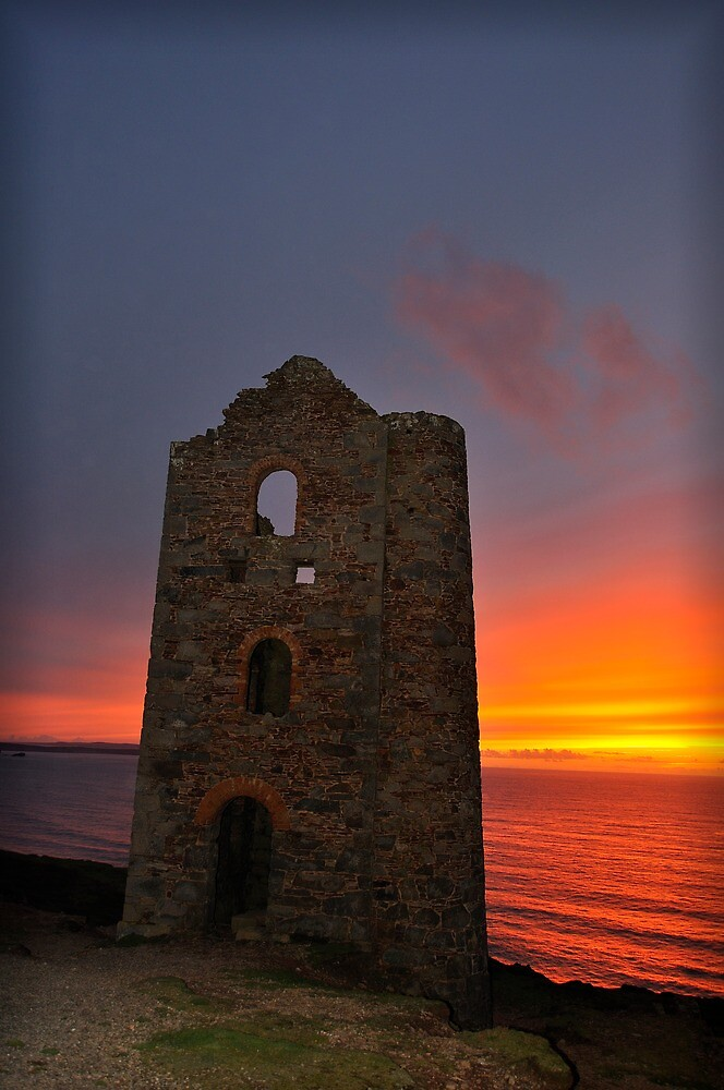 Wheal Coates at sunset by MungoPL