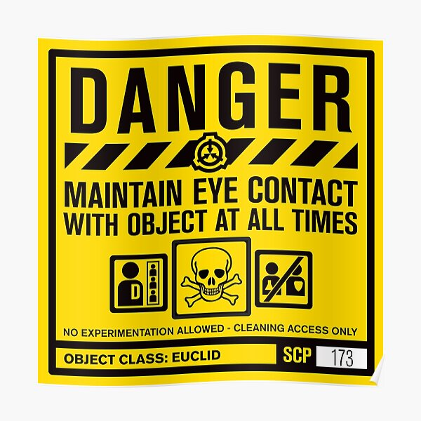 SCP 173 Warning Sign Poster