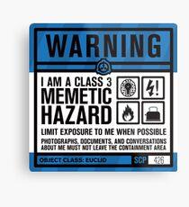 SCP 426 Warning Sign Metal Print