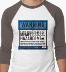 SCP 426 Warning Sign Men's Baseball ¾ T-Shirt