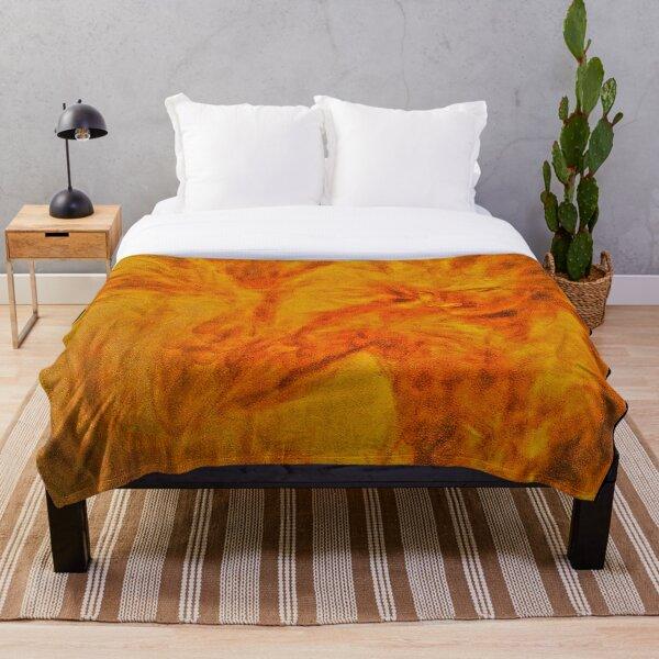 The Burning Man Throw Blanket