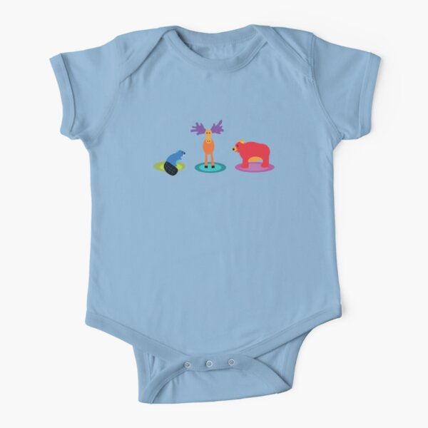 canadian animals Short Sleeve Baby One-Piece