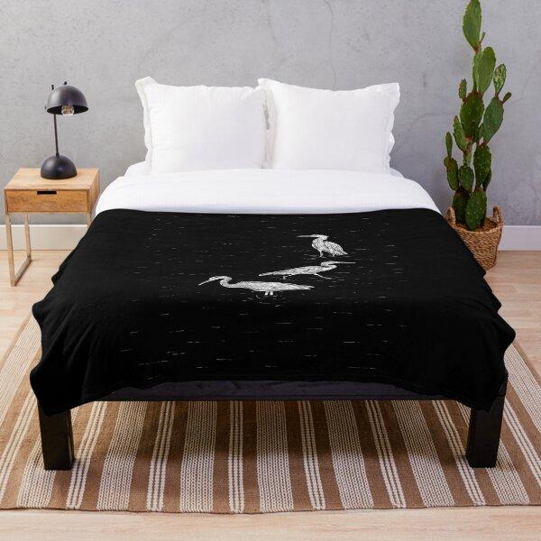 Herons Throw Blanket