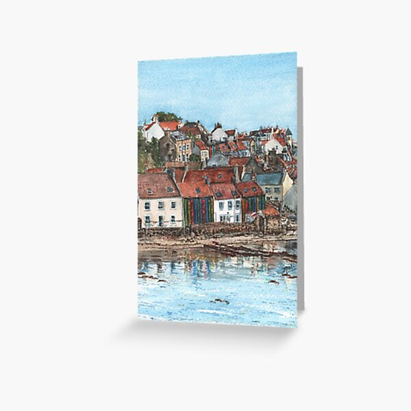 Pittenweem Bookcase Greeting Card