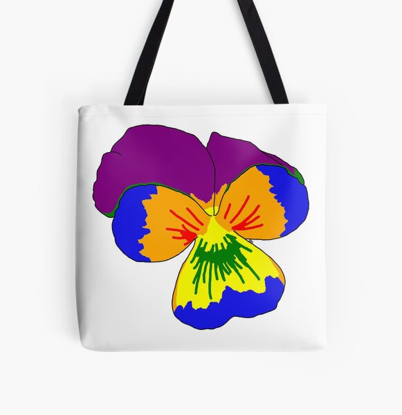 Gay Pride Flower All Over Print Tote Bag