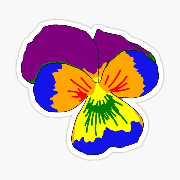Gay Pride Flower Sticker