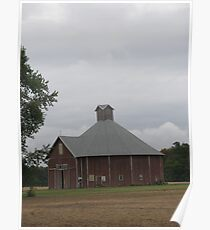 Odd-Shaped Red Barn Poster