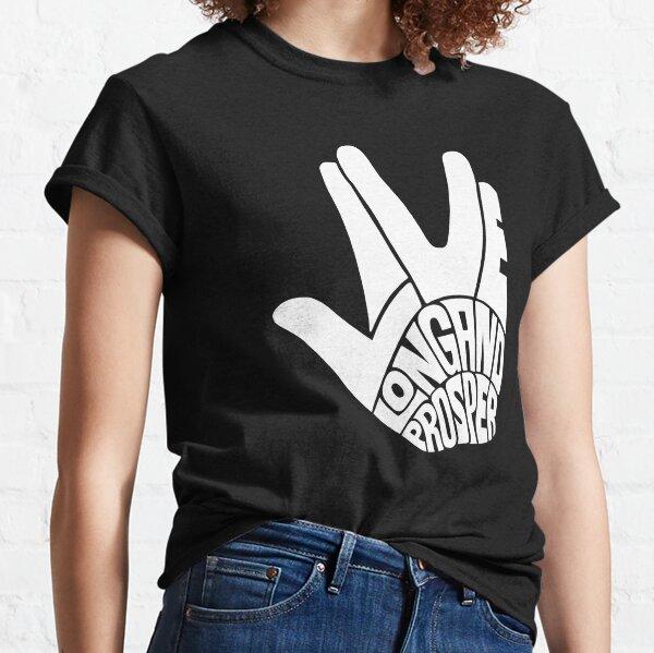 Star Trek Live Long and Prosper White Classic T-Shirt