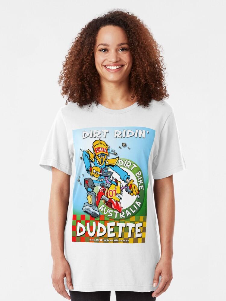 Alternate view of Dirt Ridin' Dudette T-Shirt Slim Fit T-Shirt
