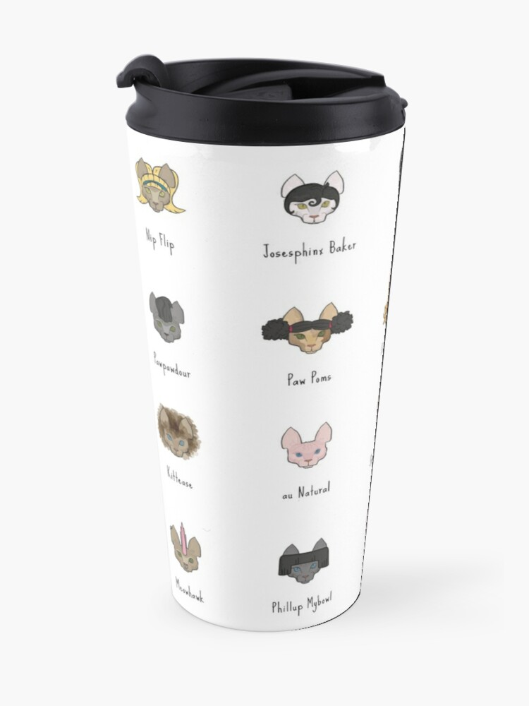 Alternate view of Let's Doo This [Trendy Hair Styles for Sphinx Cats] Travel Mug