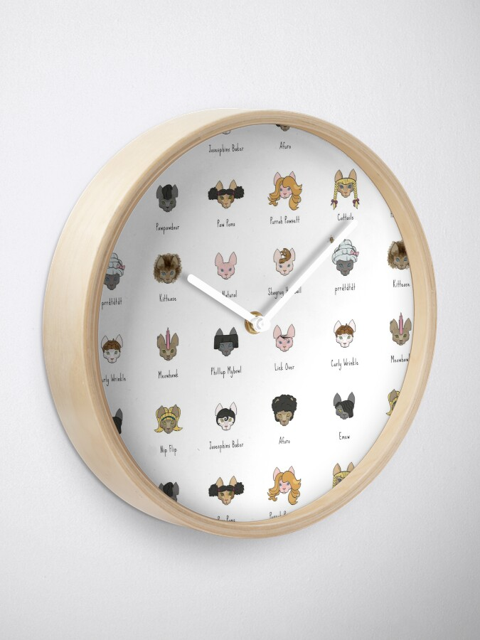 Alternate view of Let's Doo This [Trendy Hair Styles for Sphinx Cats] Clock