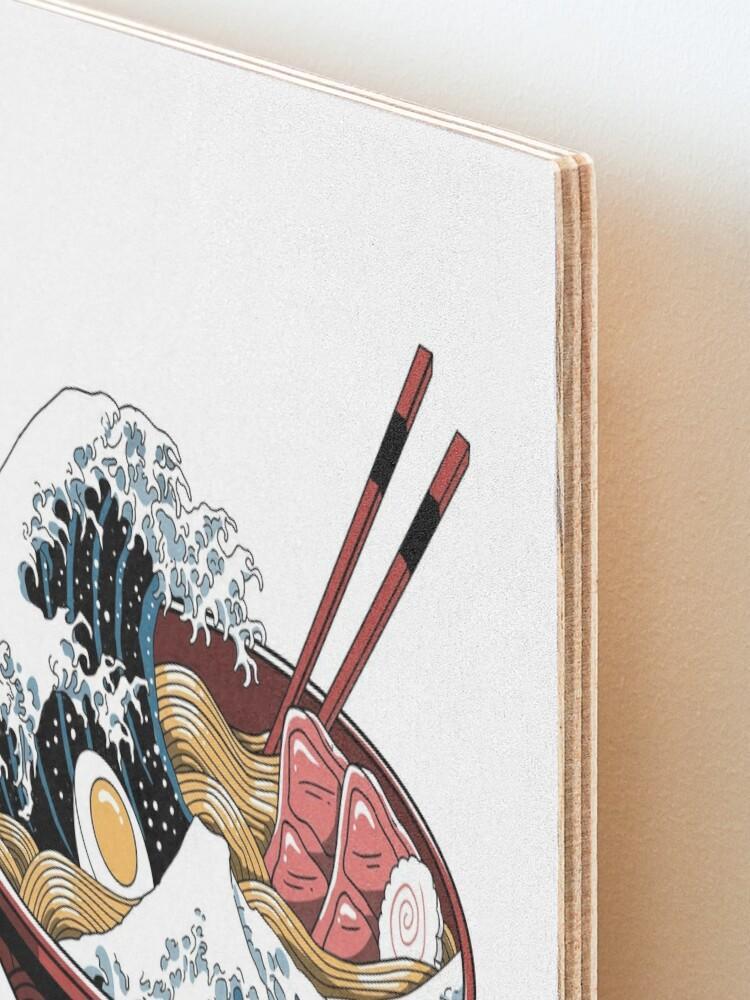Alternate view of Great Ramen Wave White Mounted Print