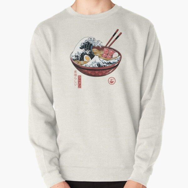 Great Ramen Wave White Pullover Sweatshirt
