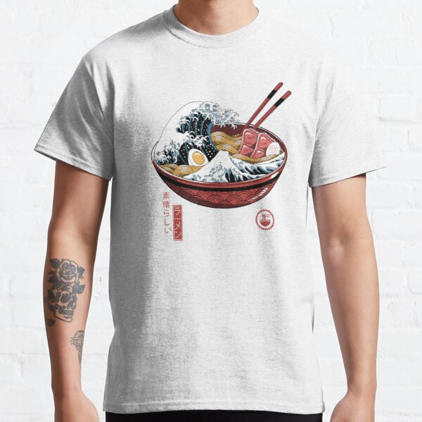 Great Ramen Wave White T-shirt classique