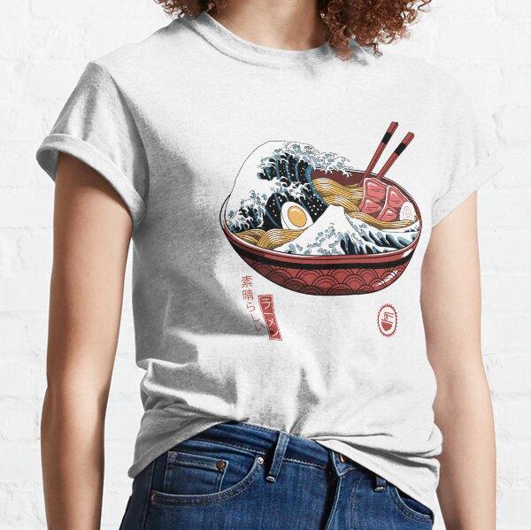 Gran ola de ramen blanca Camiseta clásica
