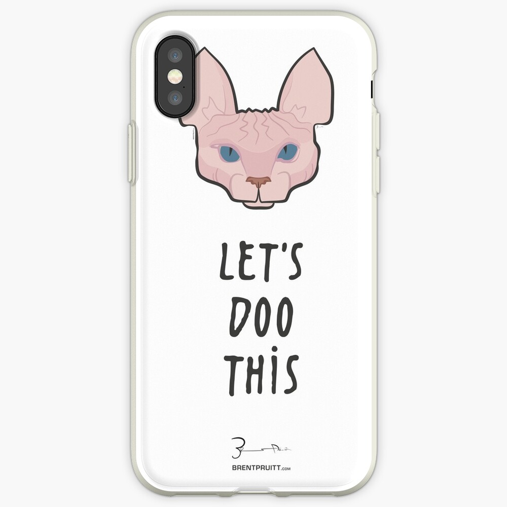 Let's Doo This [Trendy Hair Styles for Sphinx Cats] iPhone Case & Cover