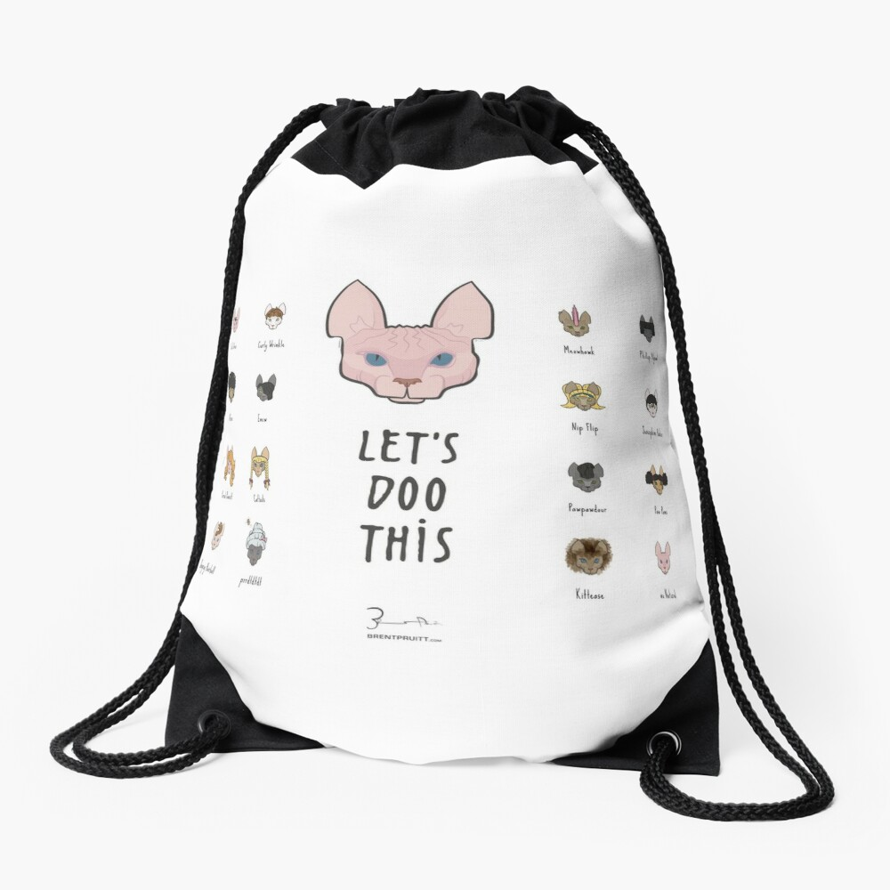 Let's Doo This [Trendy Hair Styles for Sphinx Cats] Drawstring Bag