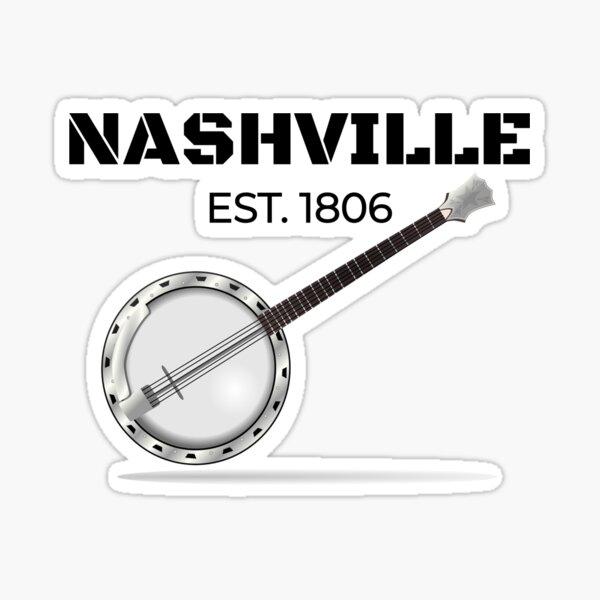 Nashville Established 1806 Banjo Sticker