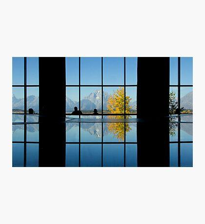 Moran Reflected, Jackson Lake Lodge Photographic Print