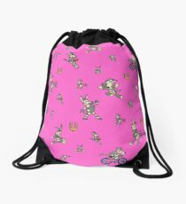 Zonkey Escape hot pink Drawstring Bag