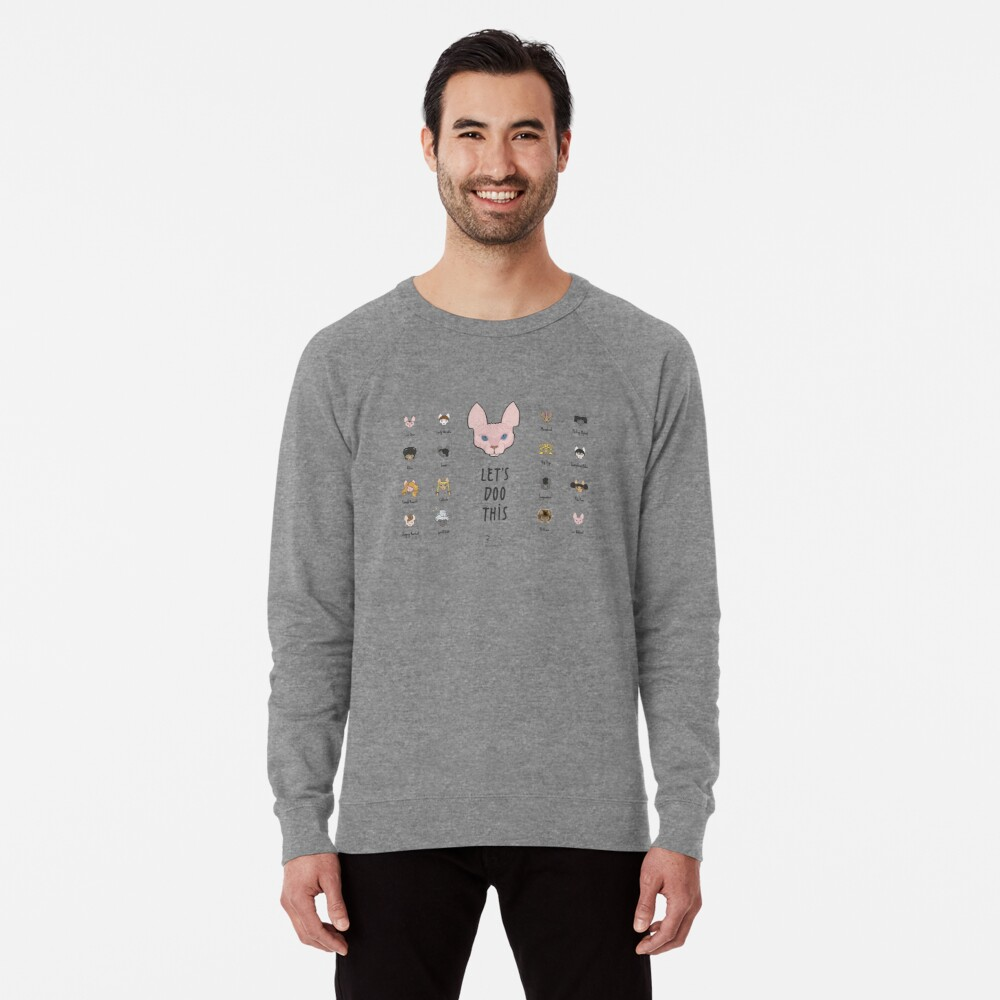 Let's Doo This [Trendy Hair Styles for Sphinx Cats] Lightweight Sweatshirt