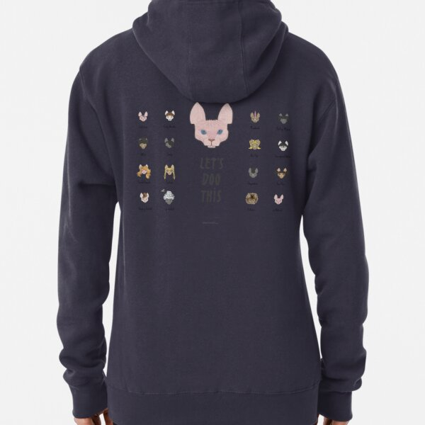 Let's Doo This [Trendy Hair Styles for Sphinx Cats] Pullover Hoodie