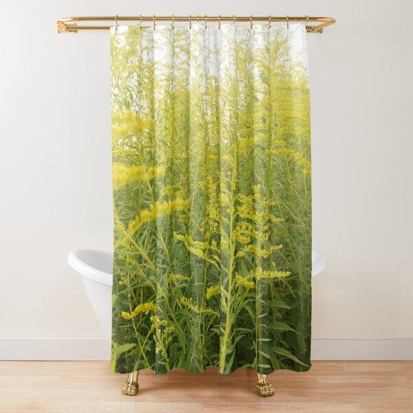 Yellow Goldenrod Shower Curtain