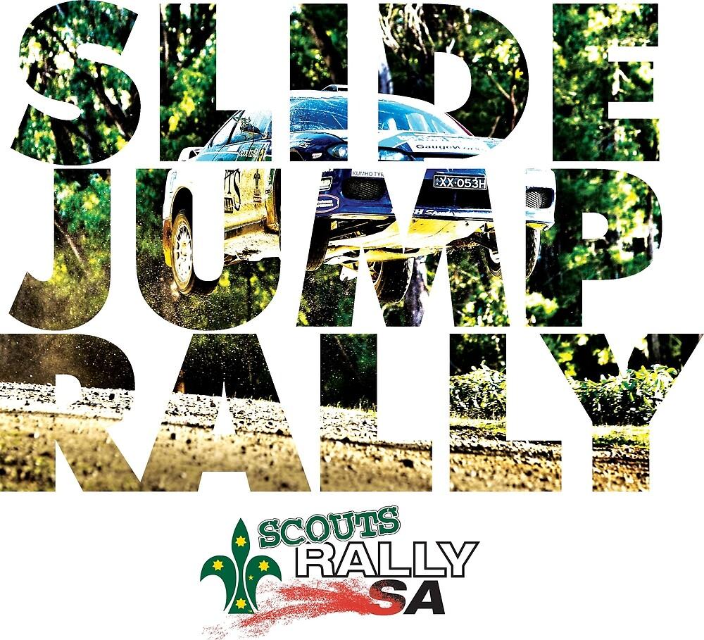 Slide Jump Rally - Colour/White by Ryan Jones