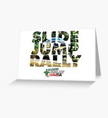 Slide Jump Rally - Colour/White Greeting Card