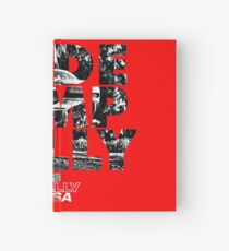 Slide Jump Rally - Red Hardcover Journal