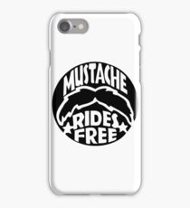 FUNNY T SHIRT MUSTACHE RIDES FREE DIRTY RUDE MOUSTACHE iPhone Case/Skin