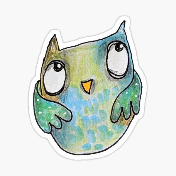 Peeking Owl Sticker