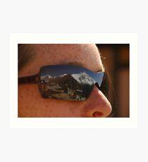 Annapurna II reflected in sunglasses Art Print