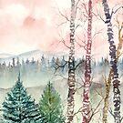 birch trees painting by derekmccrea