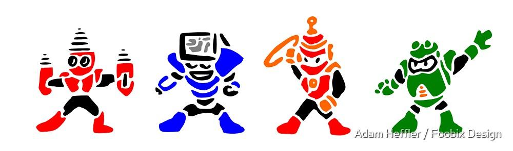Megamans 4 by Adam Heffler / Foobix Design