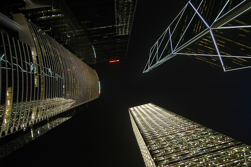 Banks reaching for the night sky by Stephen Tapply