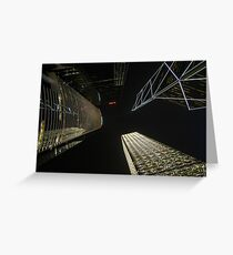 Banks reaching for the night sky Greeting Card