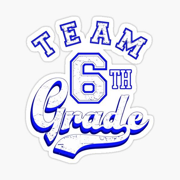 Team 6th Grade Blue Sticker