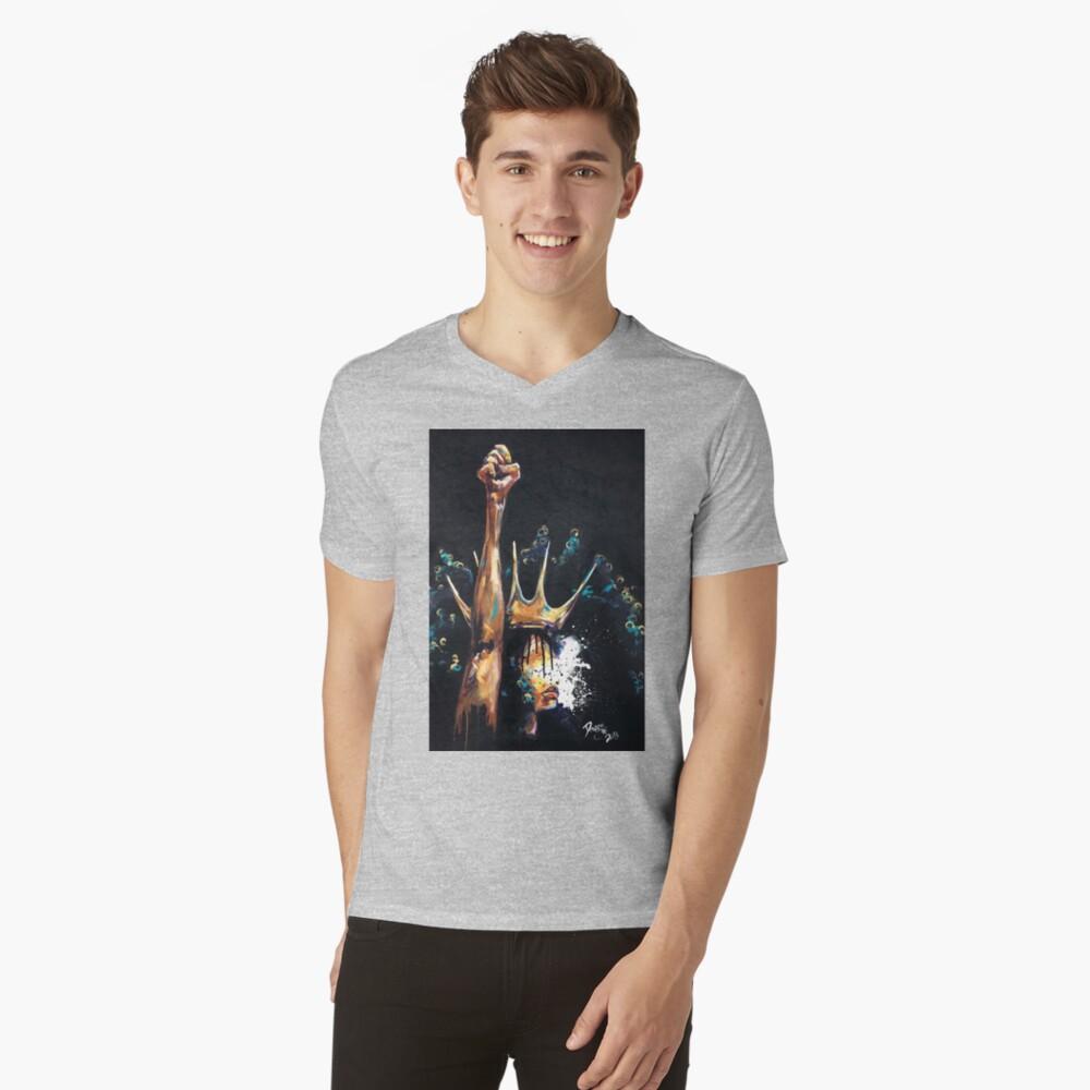 Naturalmente Reina VI Camiseta de cuello en V