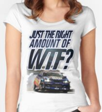 Just the right amount of WTF? Women's Fitted Scoop T-Shirt