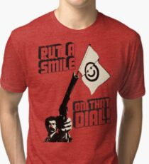 Put a smile on that dial, punk Tri-blend T-Shirt