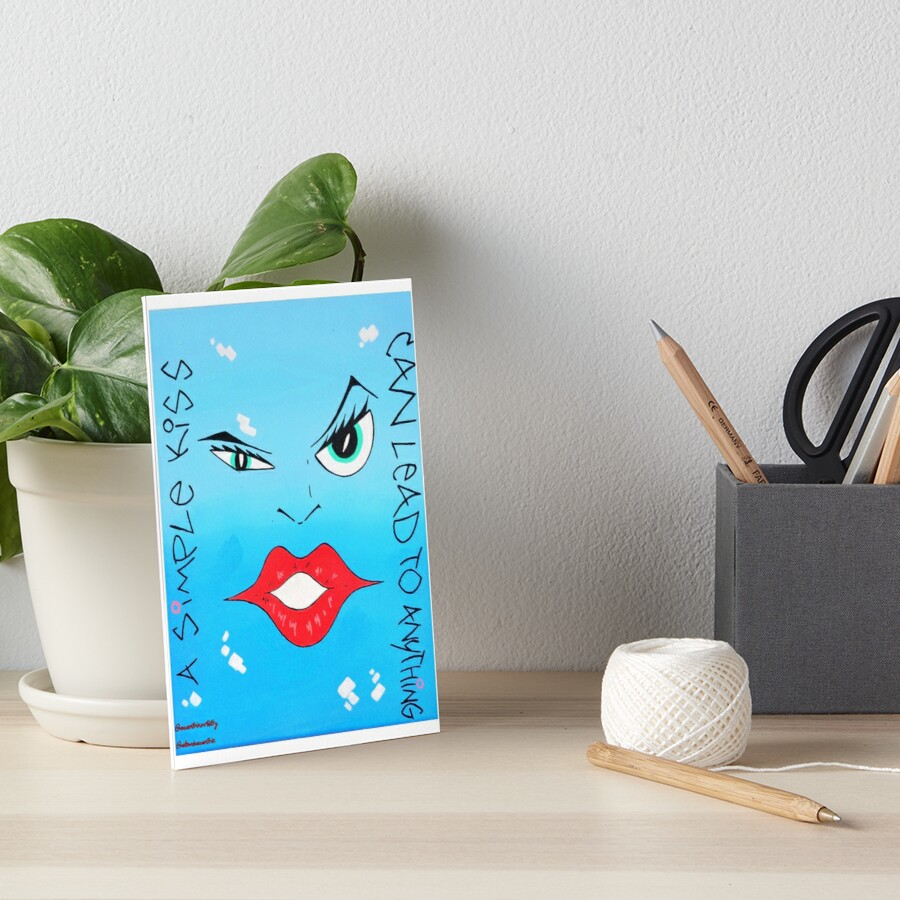 A Simple Kiss Can Lead To Anything Art Board Print