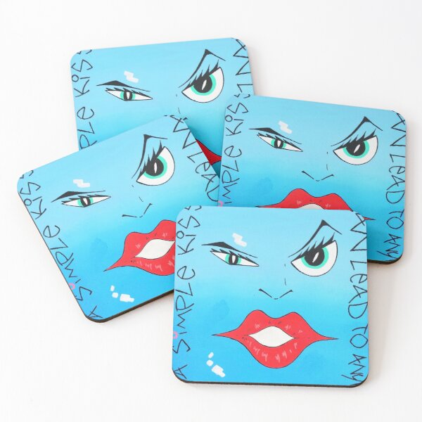 A Simple Kiss Can Lead To Anything Coasters (Set of 4)