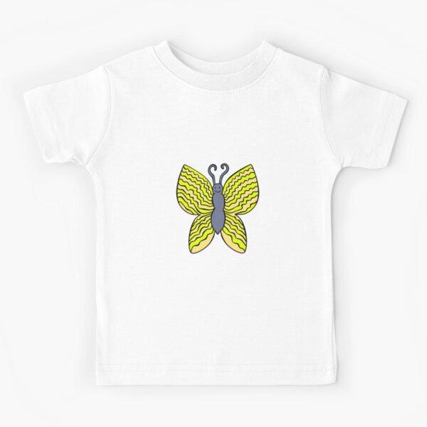 A Cheerful Yellow Butterfly Kids T-Shirt