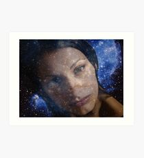 Stars in Her Thoughts Art Print