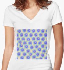 Abstract flowers Women's Fitted V-Neck T-Shirt